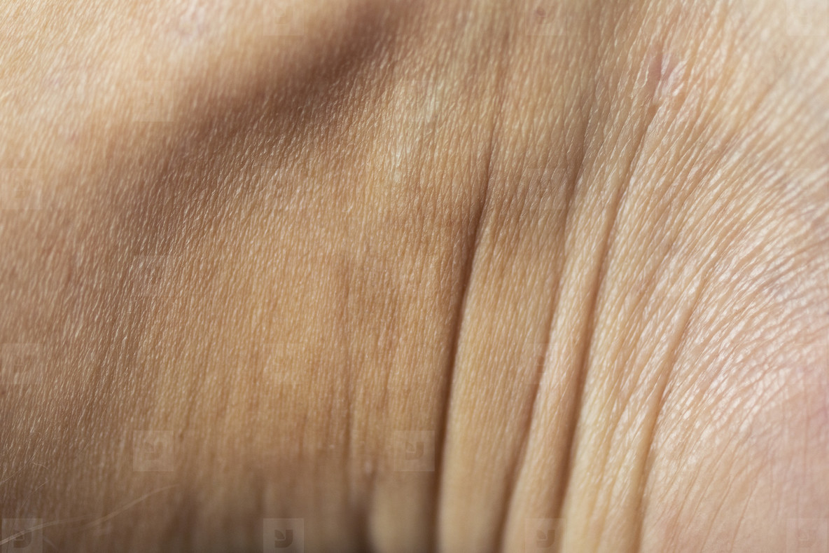 Close up wrinkles in skin
