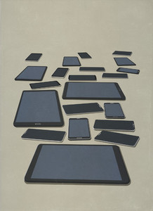 Variety of smart phones and digital tablets
