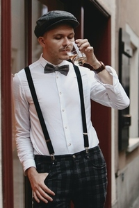 Dapper man in a vintage suit 2