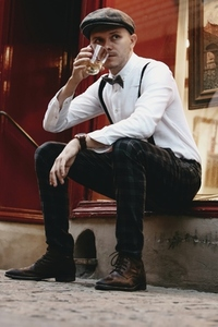 Dapper man in a vintage suit 13
