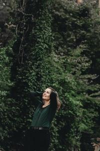 Beautiful women in a forest 7