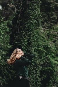 Beautiful women in a forest 8