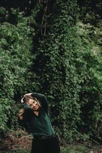Beautiful women in a forest 12