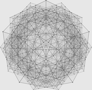 Complex Grid with Spheres Shaded