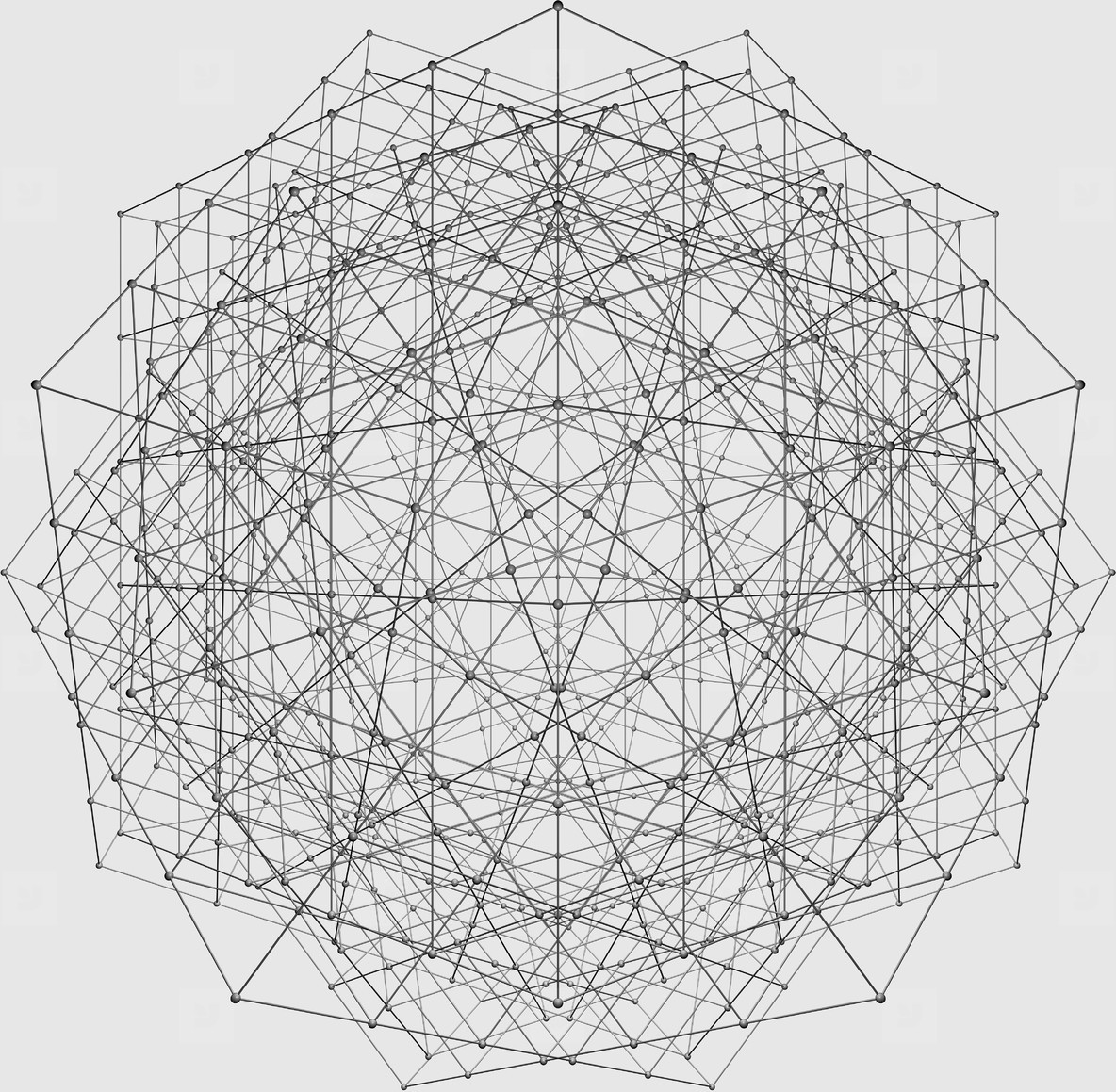 Complex Grid with Spheres