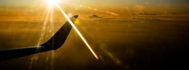 Flight with Sunset