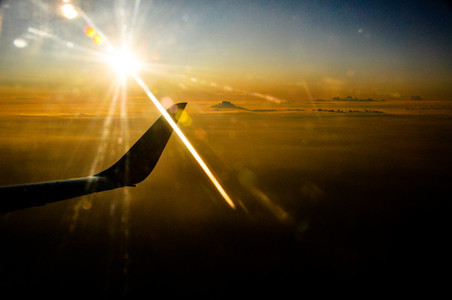 Flight with Sunset