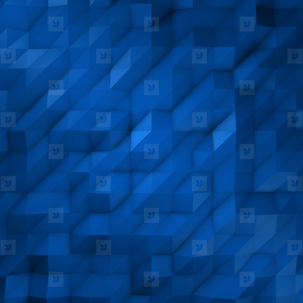 Faceted 20x20 Blue