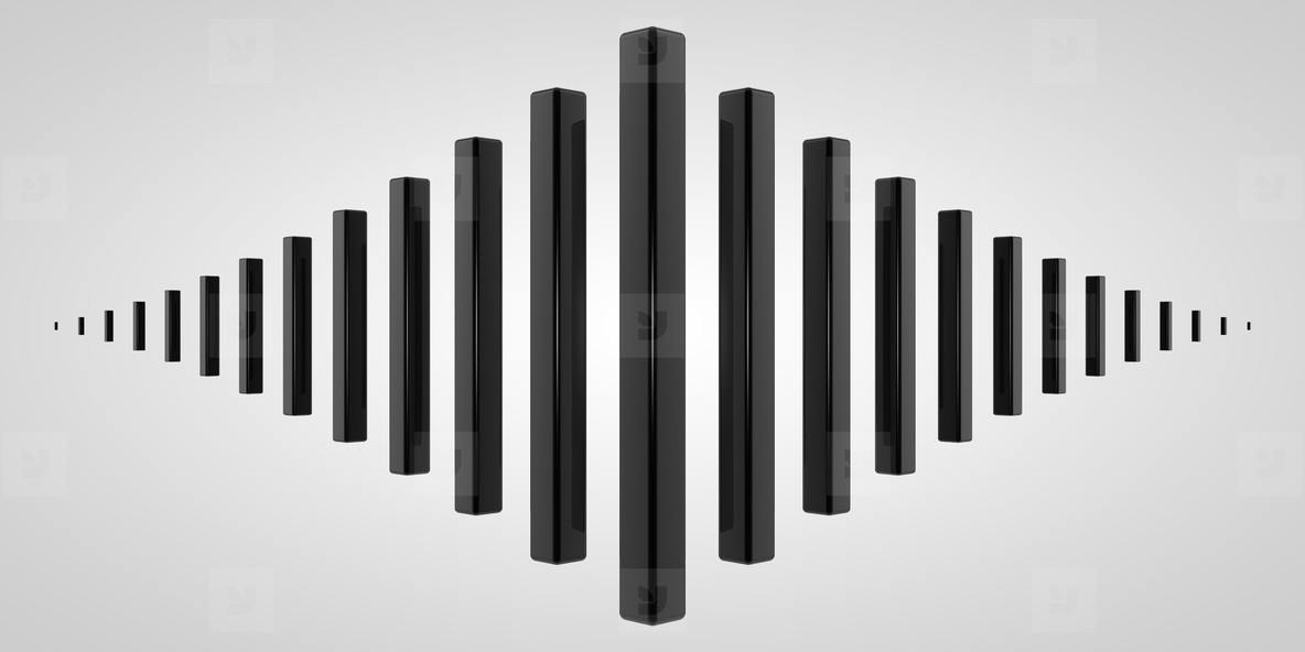Cubes Scaled Black