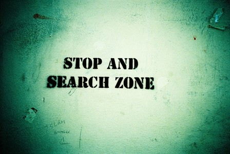 Stop and search zone