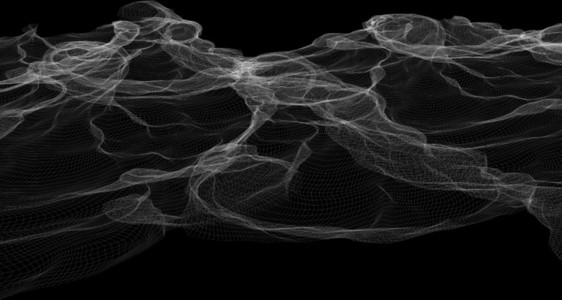Wireframe Waves 03