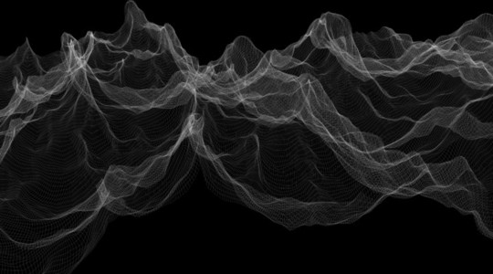 Wireframe Waves 04