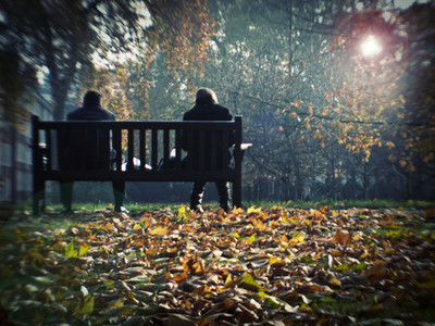 autumnal bench