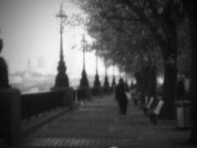 pinhole shot of southbank