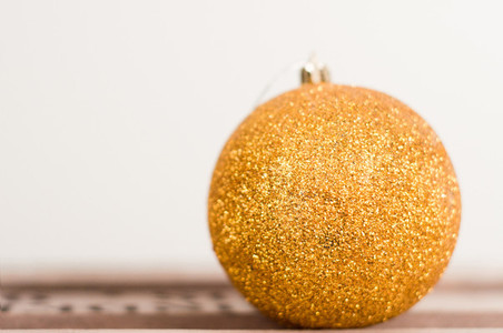 Golden Glittery Christmas Bulb