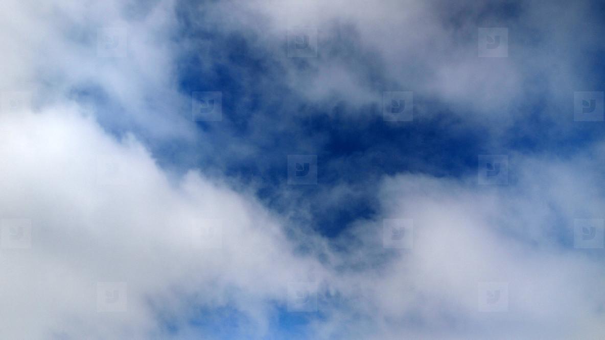 Blue Sky White Clouds 03