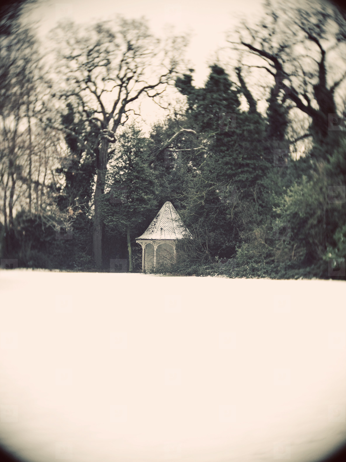 hut in the snow