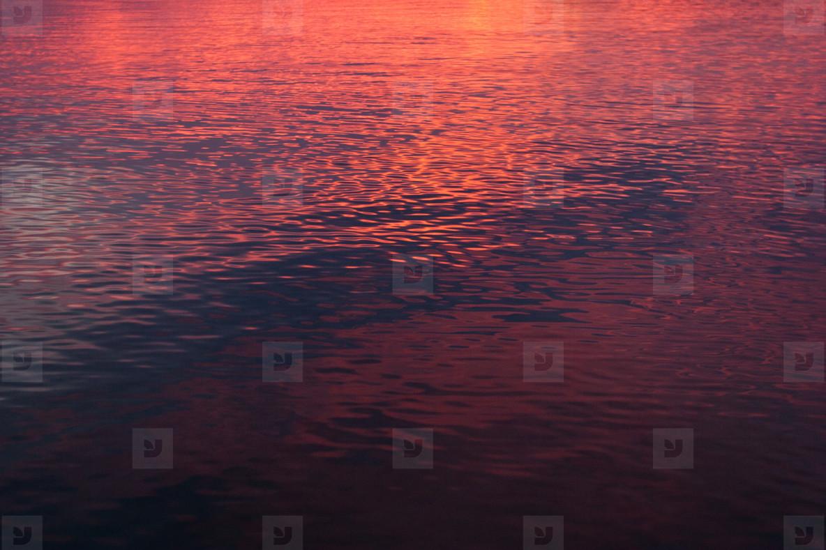 sunset ripples