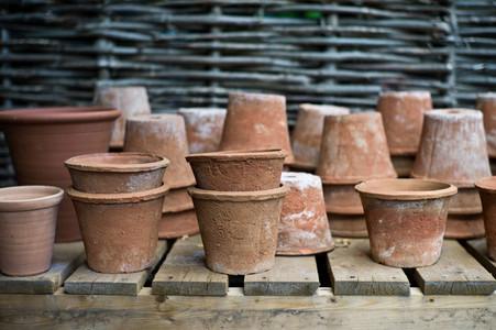 old terra cotta pots