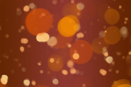 Defocused orange orbs