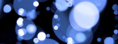Defocused blue orbs