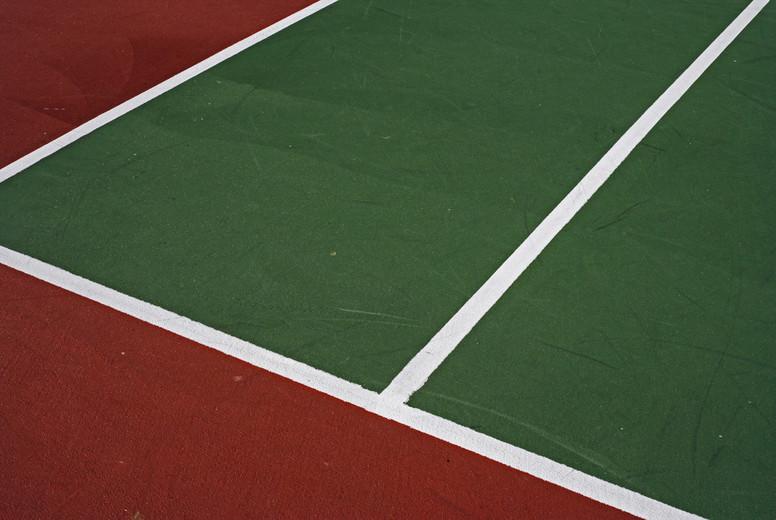 Tennis court boundary lines