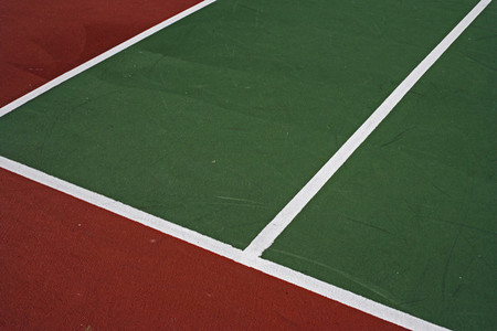 Tennis court boundary lines