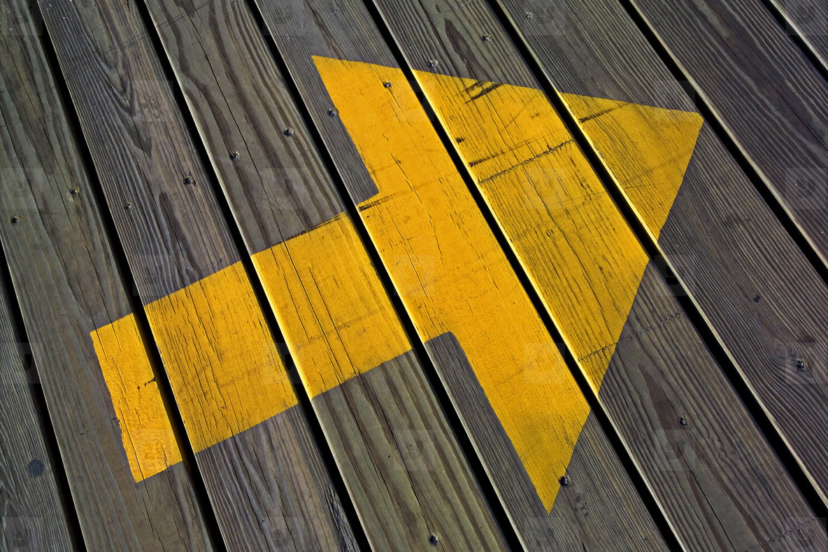 Boardwalk arrow