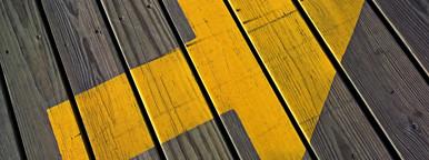 Boardwalk arrow