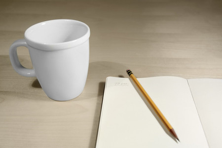 Coffe cup and notes