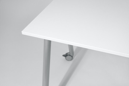 White office table