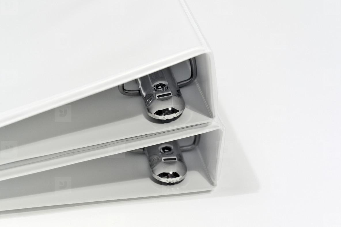 White notebook binders