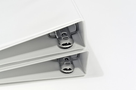 White notebook binders