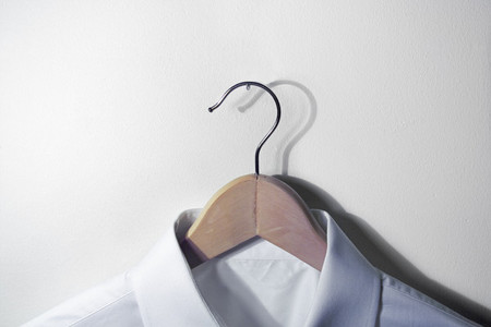 Dress shirt on hanger