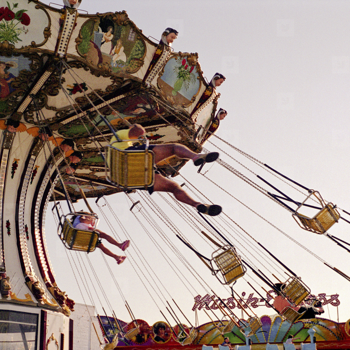 Swing ride at boardwalk carnival