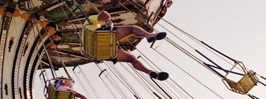 Swing ride at boardwalk carnival
