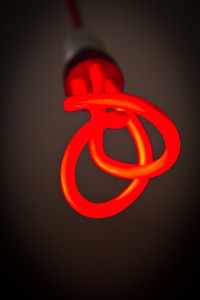 Red Twist Light Sculpture Bulb