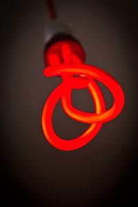 Red Twist Light Sculpture Bulb