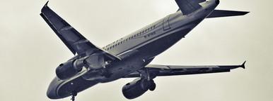 Jetliner in the sky