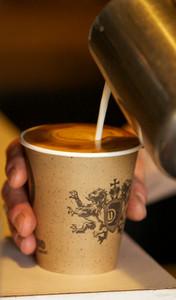 Barista Making a Perfect Coffee