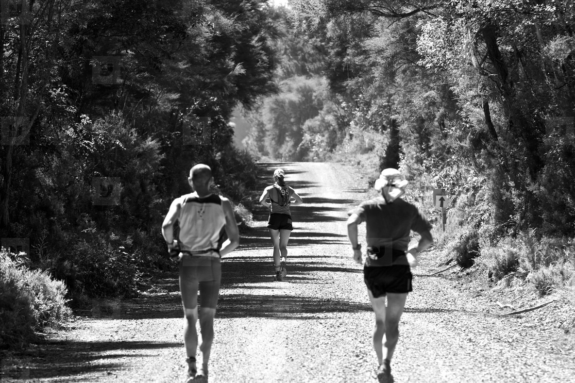 Trail Runners on a Dirt Road