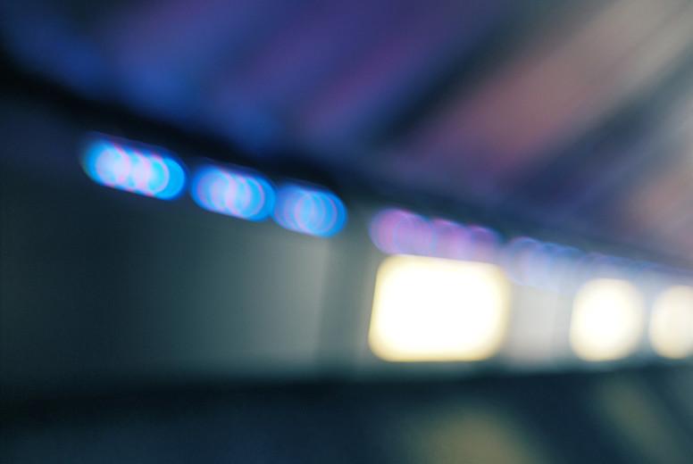 defocused subway lights