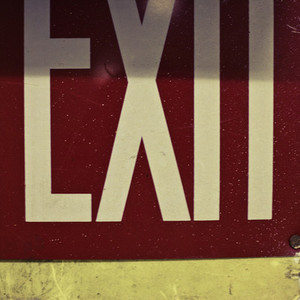 Exit sign up close