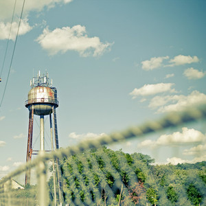 Water tower and fence