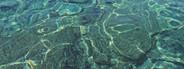 Caribbean water ripples