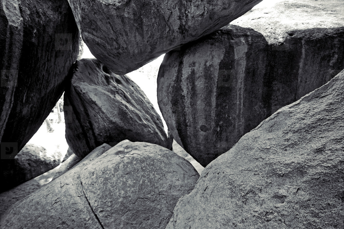 Boulders on Virgin Gorda beach