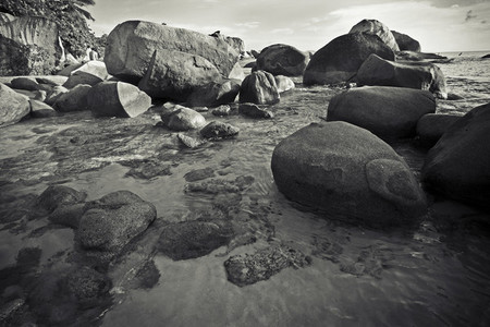 Virgin Gorda beach boulders