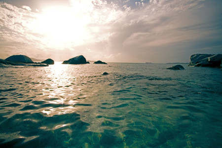Caribbean ocean beach scape
