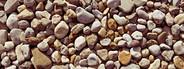 Multi colored beach pebbles