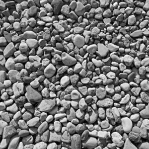 Black and white beach pebbles